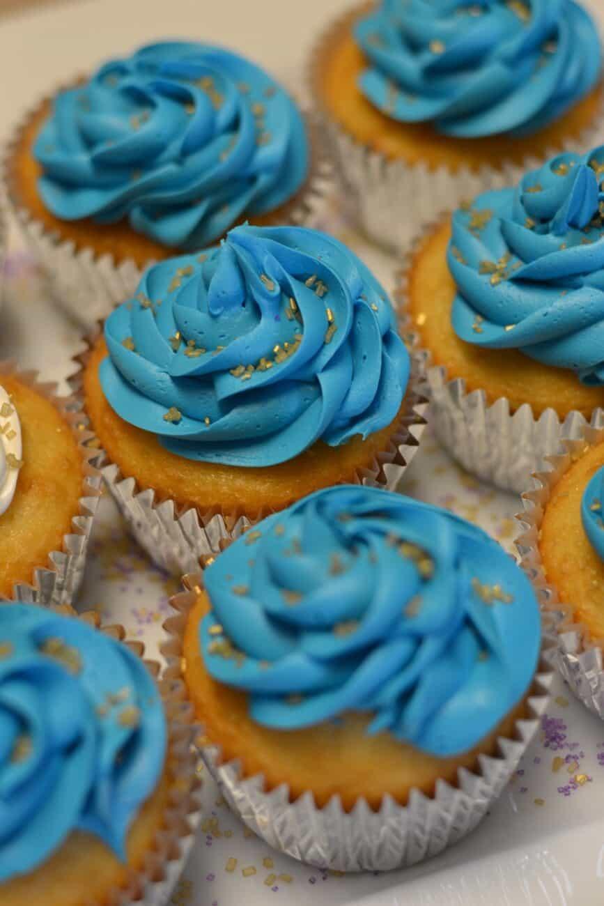 Blå cupcakes