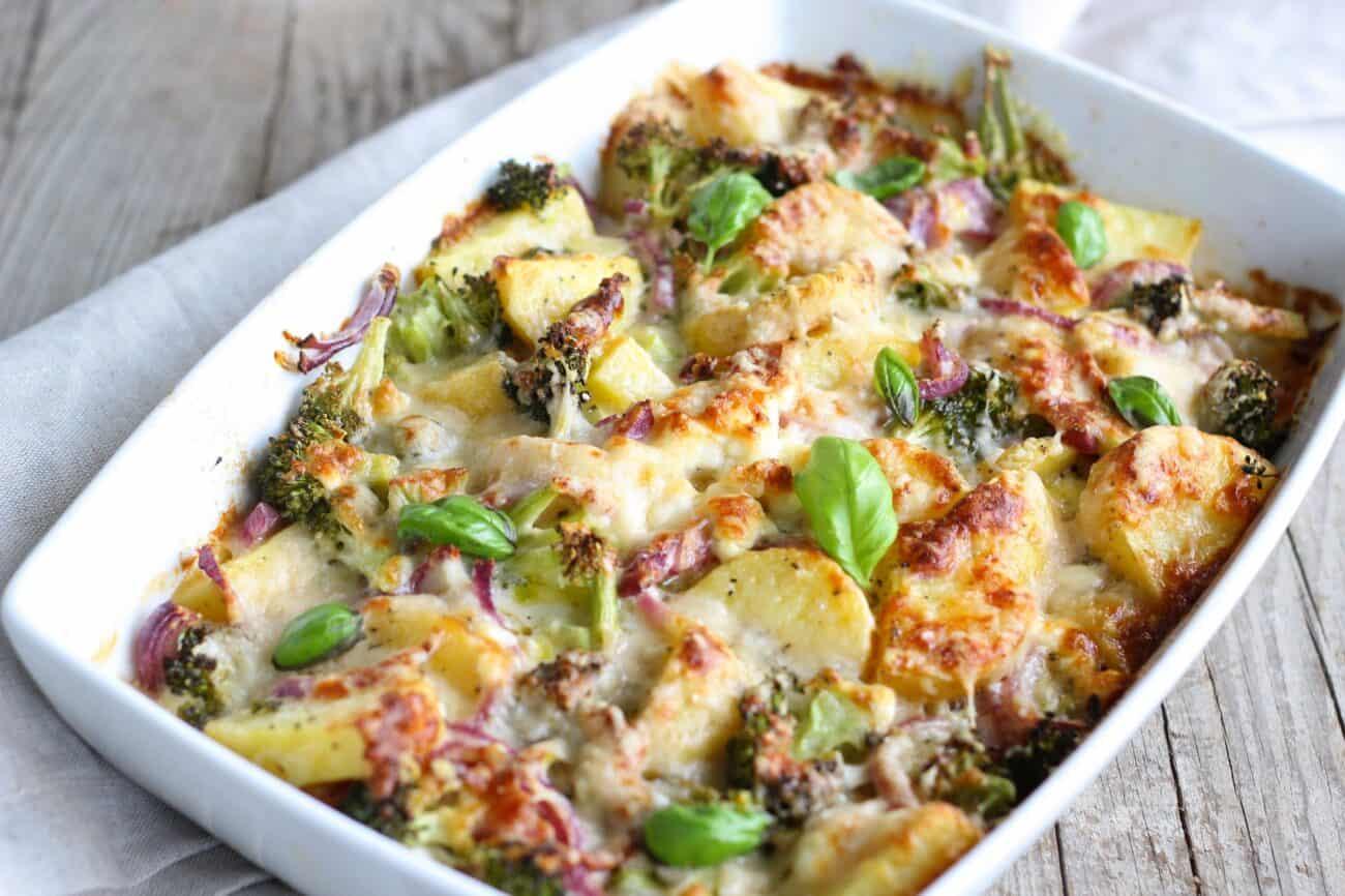 Flødekartofler med broccoli